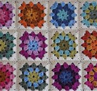 Aprende ganchillo con cuadros granny uolala - Mantas de crochet a cuadros ...